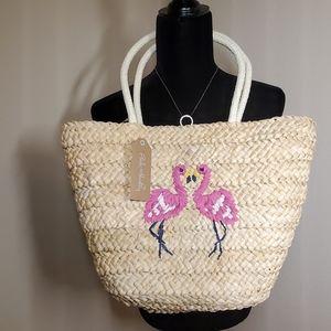 Pink Haley Flamingo tote bag